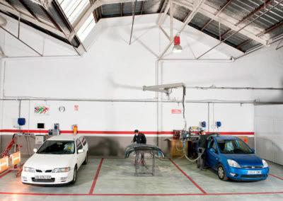 Zona de preparación de coches